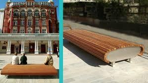 Urban Benches Brighton New Road Street Furniture Landscape Architecture