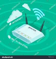 wi fi wireless internet router flat stock vector 547962142