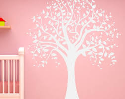 White Tree Wall Decal For Nursery White Tree Decal Etsy