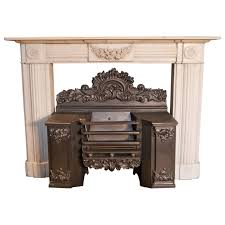 statuary white regency marble surround fireplace with a georgian