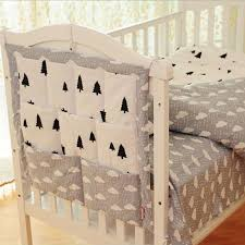 Hanging Changing Table Organizer Crown Clouds Tree Fruits Baby Cot Bed Hanging Storage Bag Cotton