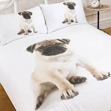 Dog Duvet Covers Sitting Dog Puppy Pug Bedding Twin Or Full Duvet Cover Comforter