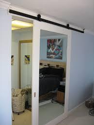 Barn Door Closet Hardware by Mirrored Sliding Barn Door 5 Nice Decorating With Sliding Barn