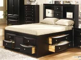 black tall full 12 drawer captains platform storage bed free