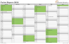 Kalender 2018 Bayern Gesetzliche Feiertage Ferien Bayern 2018 Ferienkalender Zum Ausdrucken