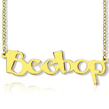 necklace with your name your own name necklace 18k gold plated