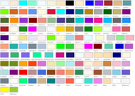 list of color 220 using the predefined colors 2 000 things you should know