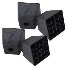 plastic table leg feet bqlzr 80 x 98 x 65mm trapezoid black plastic furniture legs feet for