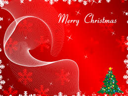 merry christmas greeting card on red background vector download