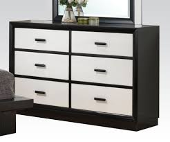 Italian Style Bedroom Furniture by Black U0026 White 6 Drawer Italian Style Dresser
