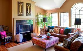 charming bohemian style living room in interior home inspiration