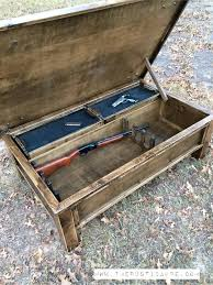 Rustic Storage Coffee Table Gun Storage Coffee Table The Rustic Acre