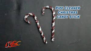 diy pipe cleaner christmas candy stick how to make jk easy