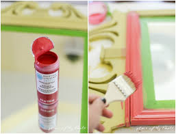 mirror makeover with vintage decor paint