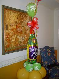 the hill balloon the hill birthday balloon column with wine bottle foil