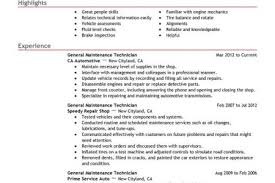 Sample Maintenance Technician Resume by Auto Tech Resume Sample Reentrycorps
