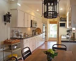 impressive cuckoo clock in kitchen traditional with stone