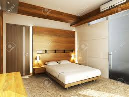 modern bedroom in minimalist style stock photo picture and