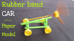 how to make a paper rubber band powered car air car youtube