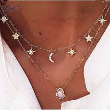 star choker necklace images New fashion trendy jewelry moon star choker necklace gift for jpg