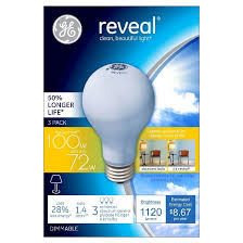 ge reveal 100 watt long life energy efficient halogen light bulb