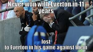 Funny Everton Memes - old trafford blues quickmeme
