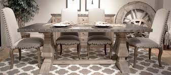 Rustic Dining Room Table With Bench Al U0027s Woodcraft U0027s Weathered Dining Room Furniture