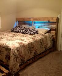 diy headboard with lights headboard led lights pertaining to diy pallet bed frame and 101