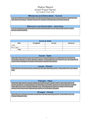 weekly progress report template project management weekly project status report sle search project