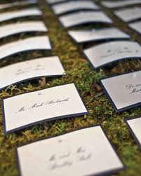 wedding table place card ideas outdoor escort card displays martha stewart weddings