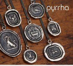 wax seal jewelry pyrrha talismans wax seals wax and