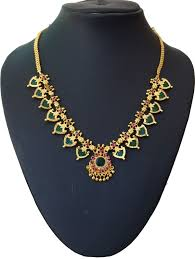 necklace pictures images Buy green palakka necklace with fourteen palakka online jpg