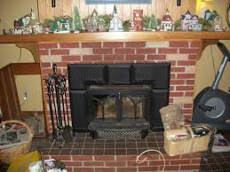 living room gorgeous fireplace inserts with brick surround and