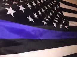 Black And White American Flag By 5 Foot Thin Blue Line Flag Honoring Our Men And Women Of Law