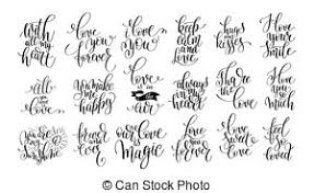 wedding quotes calligraphy set of handwritten lettering calligraphy positive quotes clip