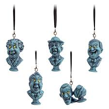 ornament set haunted mansion singing busts