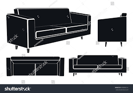 Modern Sofa by Modern Sofa Couch Different Views Vector Stock Vector 263006141