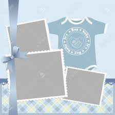 template for baby s arrival announcement card or photo frame