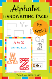 practice alphabet alphabet handwriting pages for beginning writers