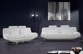 Contemporary White Leather Sofas Viper White Leather Sofa Set With Adjustable Headrests Mississippi