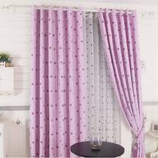 Blackout Purple Curtains Pink Purple Polyester Print Curtains With Blackout