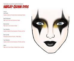 harley quinn eyes face chart fahsionclub com halloween