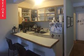 Folding Kitchen Island Work Table 10 Ways To Make A Small Kitchen An Eat In Apartment Therapy