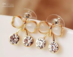 korean earings moonstone korean version of the butterfly earrings