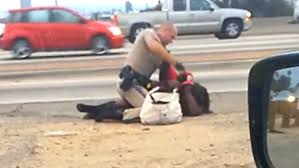 chp call log video california highway patrol officer caught on tape beating a