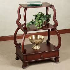 interior wooden home accent table combined with artistic golden wooden home accent table combined with artistic golden bowl and green plants