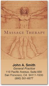 Massage Therapy Business Cards Massage Therapy Appointment Cards Keep Your Scheule Full