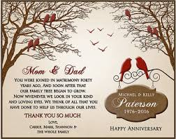 40th wedding anniversary gifts for parents 40th wedding anniversary gift 40th anniversary gift for