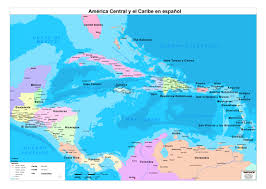 World Map Aruba by Central America Map In Spanish Zoom