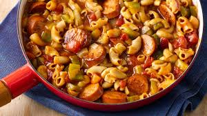 bold firehouse sausage creole macaroni recipe bettycrocker com